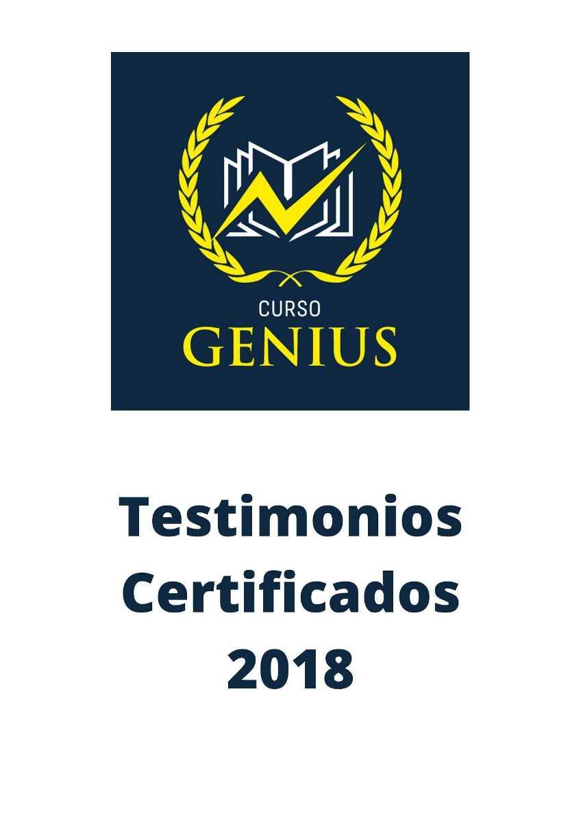 Testimonios Certificados 2018